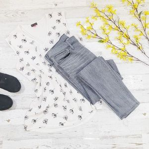 """Madewell 9"""" high riser skinny jeans gray size 30"""